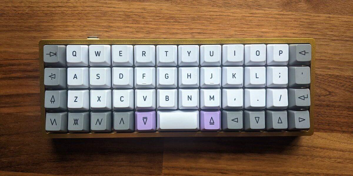 Ortholinear keyboard build, OLKB DROP Planck.
