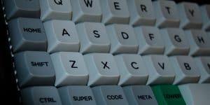 An ortholinear keyboard.