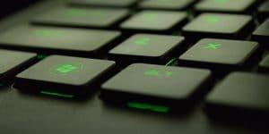 Windows pc key on keyboard.